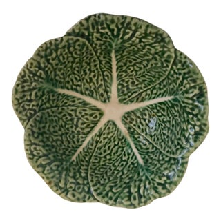 Vintage Bordallo Pinheiro Cabbage Leaf Bowl For Sale