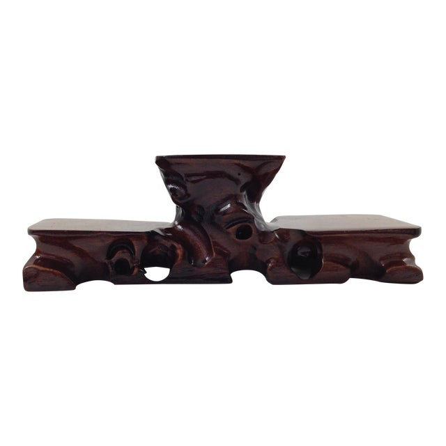 Asian Hand Carved Curiosity Stand - Image 1 of 4
