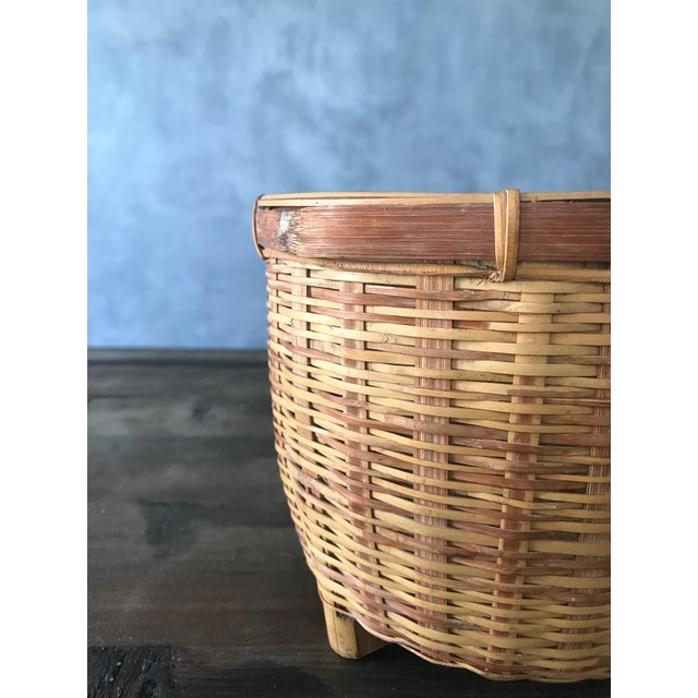 Jungalow Style Small Rattan Basket - Image 6 of 6