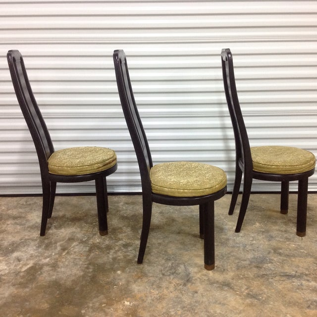 Asian Modern Black Lacquer Chair by Henredon - Image 4 of 9