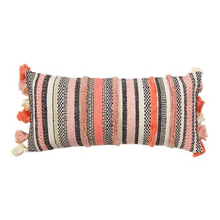 Pink Moroccan Tasseled Pillow For Sale