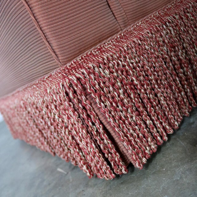 Baker Sofa Lawson Style From the Crown and Tulip Collection Terracotta For Sale - Image 10 of 13
