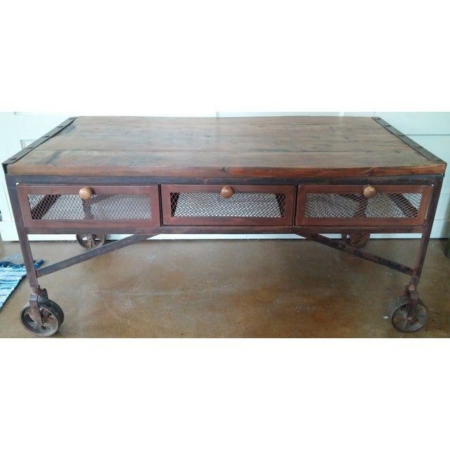 Industrial 6 Drawer Coffee Table: Industrial Coffee Table