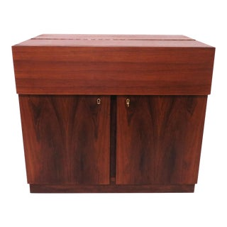 Danish Rosewood Dry Bar Cabinet, Circa 1960s For Sale