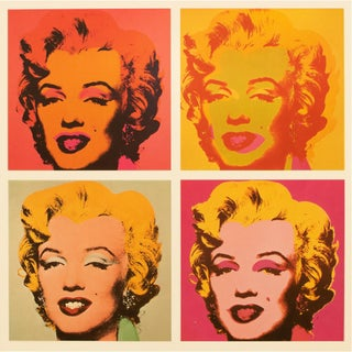 """1993 Andy Warhol """"Four Marilyns, 1964 and 1967"""", Pop Art Lithograph For Sale"""