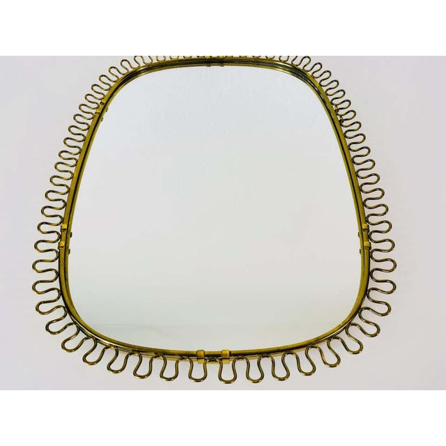 1960s Italian Brass Framed Wall Mirror, 1960s, Italy For Sale - Image 5 of 11