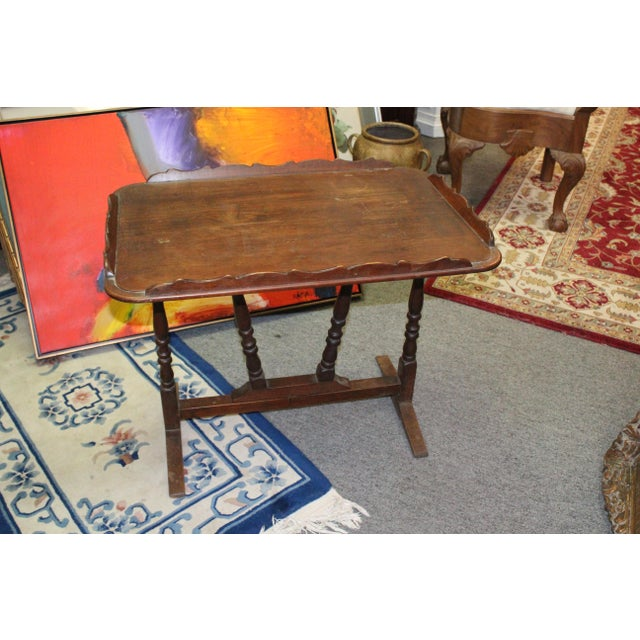 19th Century Art Nouveau Folding Tray Table For Sale - Image 4 of 6