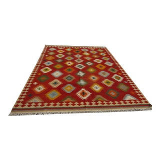 "Isara Wool Kilim Rug-7'6'x9'6"" For Sale"