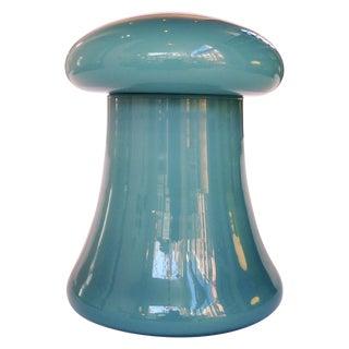 Teal Mushroom Glass Jar For Sale