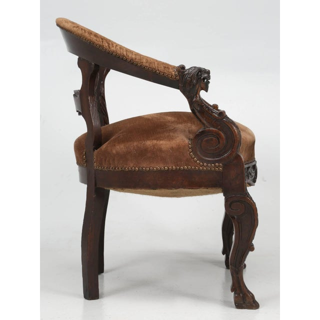 French Antique French Desk Chair, Circa Late 1800s For Sale - Image 3 of 13 - High-End Antique French Desk Chair, Circa Late 1800s DECASO
