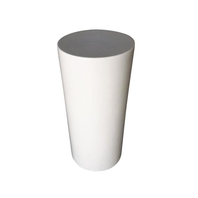 Saarinen-Style Fiberglass Cylinder Pedestal, Circa 1960 For Sale
