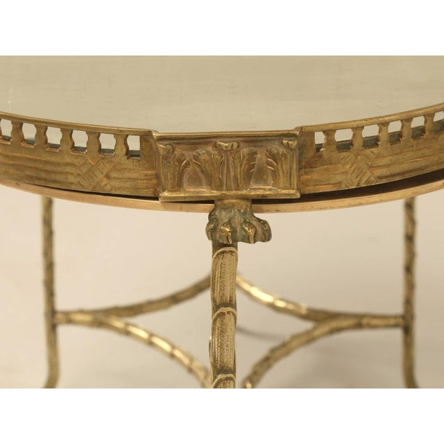 Baguès French Bronze Bamboo Style Coffee Table Attributed to Bagues For Sale - Image 4 of 9