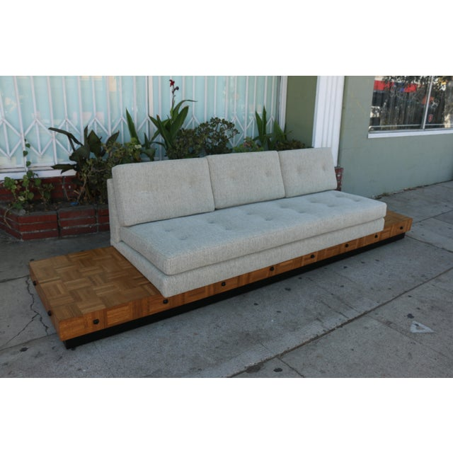 Adrian Pearsall Patched Burlwood Platform Sofa For Sale In Los Angeles - Image 6 of 12