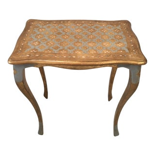 Italian Florentine Accent Table For Sale