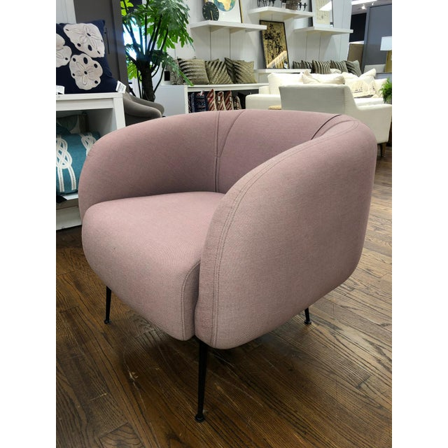 Modern Sepli Lavender Chair For Sale - Image 4 of 7