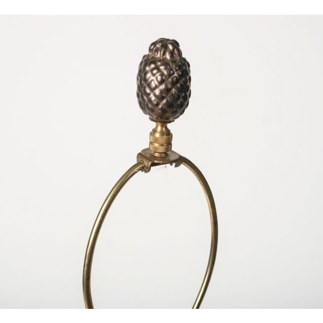 Bronze and Black Candelabra Made Into Lamp - Image 6 of 9