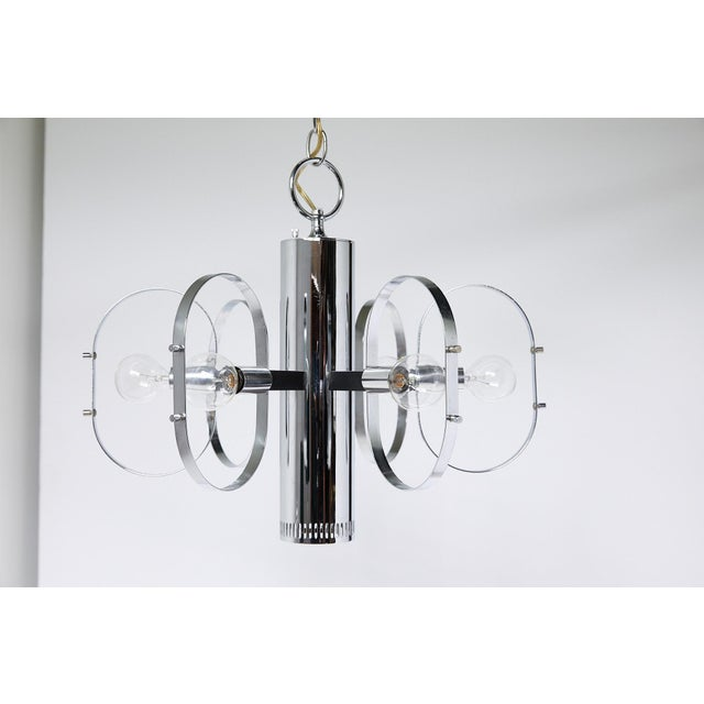 Mid-Century Modern 7-Light Chrome Fixture by Forecast Lighting For Sale - Image 10 of 13