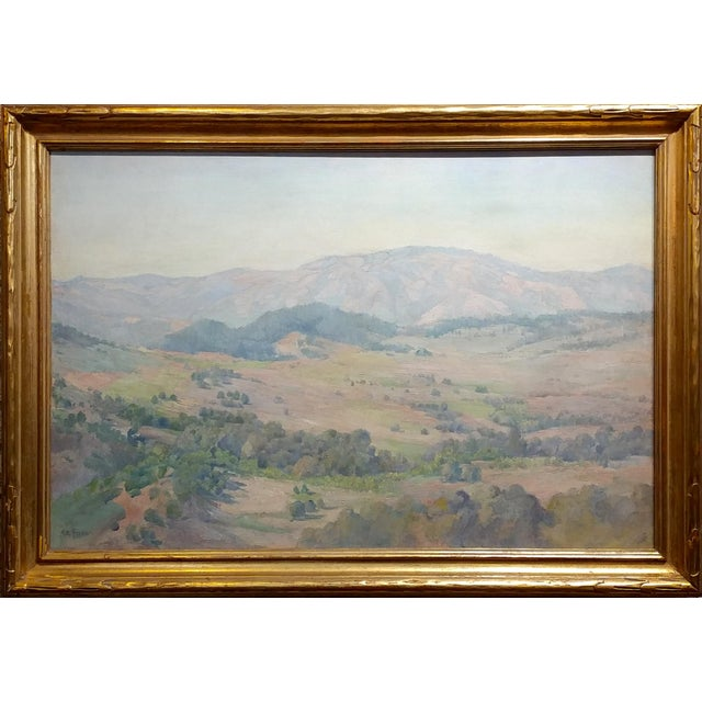Charles Fries -The Land of the Oaks-California Plein Air Oil Painting c1918 oil painting on canvas -Important California...