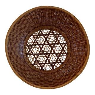 Vintage Bottom Design Woven Basket For Sale