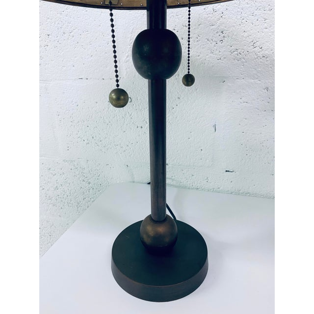 Postmodern Brass Desk or Table Lamps - a Pair For Sale In Miami - Image 6 of 13