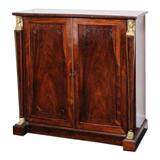 Antique Gillows London Thomas Hope Egyptian Dore Style Cabinet English Regency For Sale