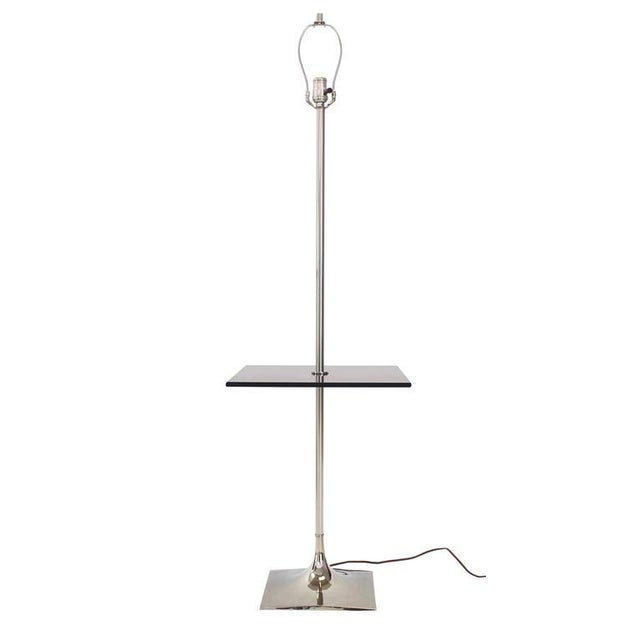 Smoked Glass Table Floor Lamp by Laurel For Sale In New York - Image 6 of 6