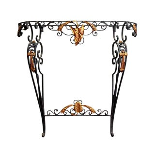 Black & Gold Iron Console Table