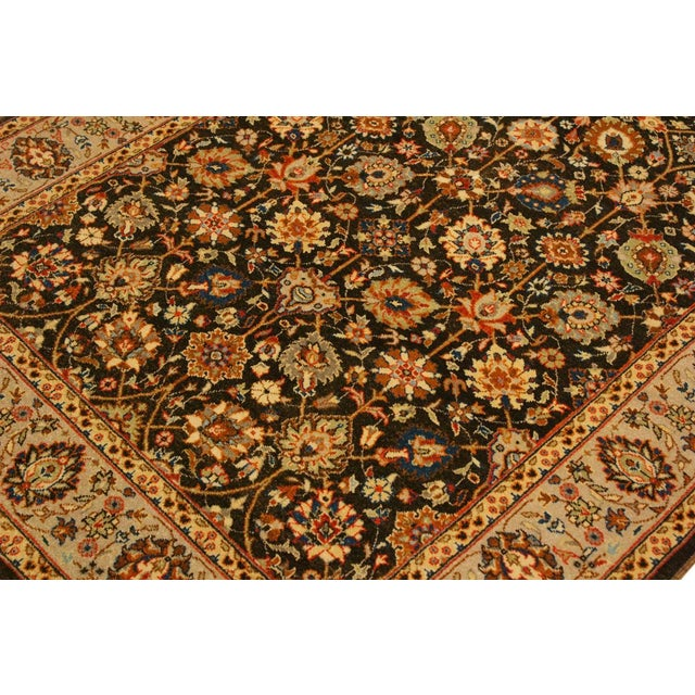 Textile Istanbul Claris Brown/Lt. Tan Turkish Hand-Knotted Rug -4'3 X 6'2 For Sale - Image 7 of 8