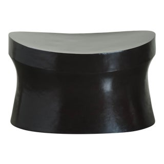 Black Copper Saddle Seat Hand Repousse Drumstool by Robert Kuo, Limited Edition For Sale