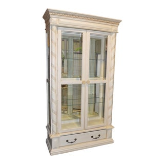 Collezione 2 Piece Large Neo-Classic Style Lighted Curio Cabinet