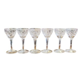 Vintage Cut Glass Cordials - Set of 6 For Sale