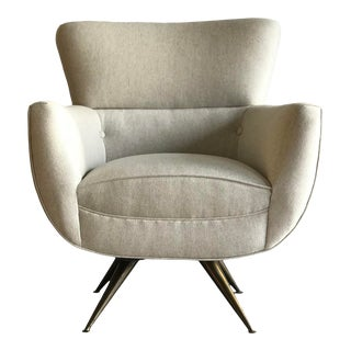 Henry P. Glass Swivel Chair For Sale