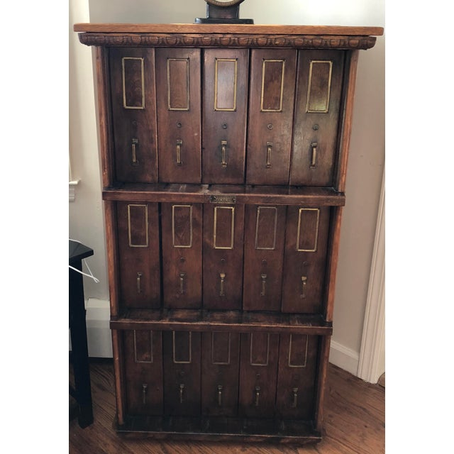 Brown 1910 Antique Apothecary Cabinet For Sale - Image 8 of 8 - 1910 Antique Apothecary Cabinet Chairish