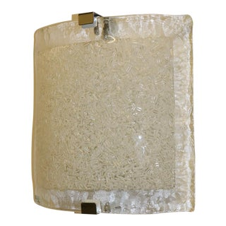 Vintage Mid-Century Modern Murano Glass Wall Lamp For Sale