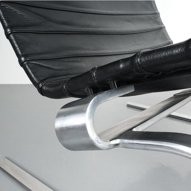 Poul Kjærholm Early Fritz Hansen Pk20 Lounge Chair in Black Leather, 1987 For Sale - Image 9 of 12