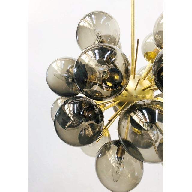 Gold Ventiquattro Sputnik Chandelier by Fabio Ltd For Sale - Image 8 of 12