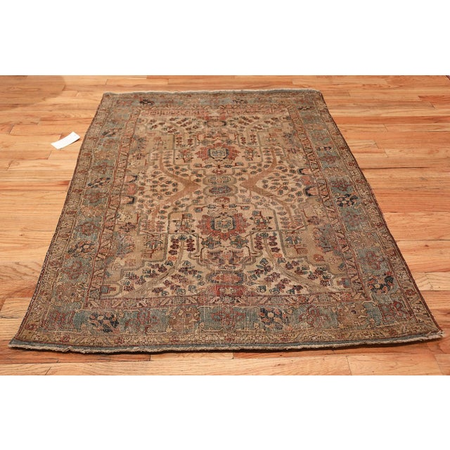 Breathtaking small size 17th century Persian Khorassan rug, country of origin / rug type: Persian rug, date circa 17th...