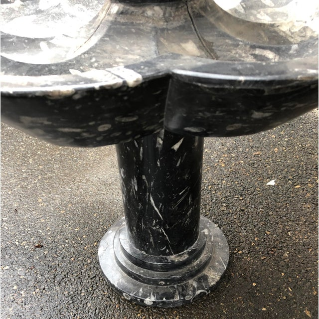 1980s Vintage Tuscan Marble 3 Tier Fountain For Sale - Image 9 of 12