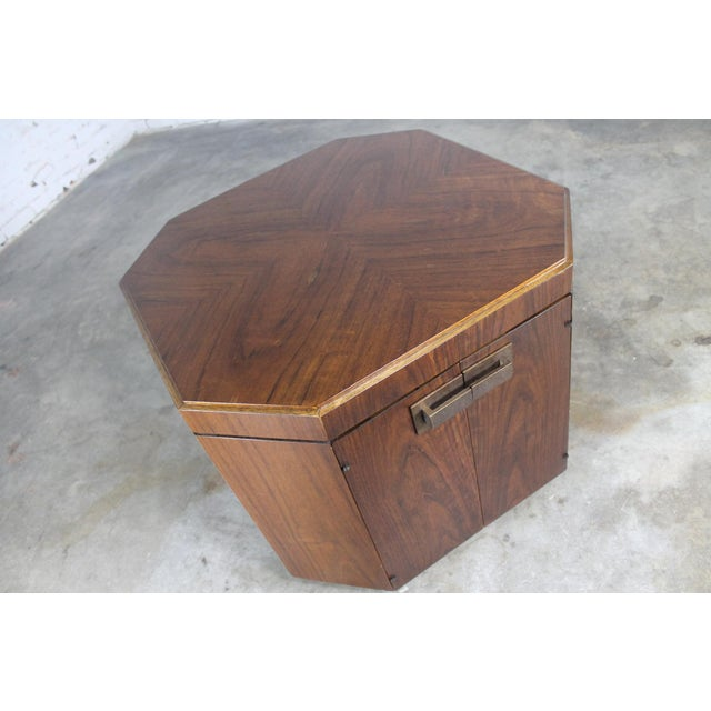 Vintage Founders Furniture Cabinet Table For Sale - Image 6 of 11