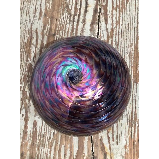 California Iridescent Art Glass Vase For Sale - Image 4 of 5