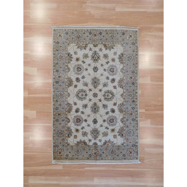 Traditional Indo Oushak Rug - 4' x 6' For Sale - Image 5 of 5