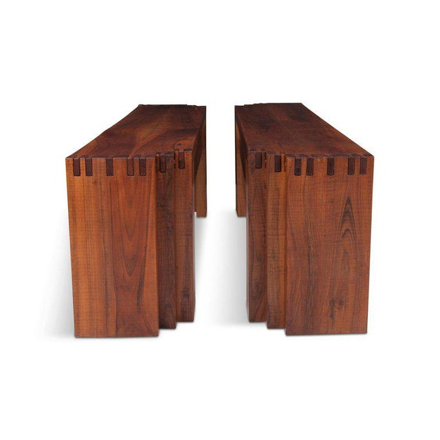 Brown Rivadossi Hardwood Dining or Console Table For Sale - Image 8 of 13