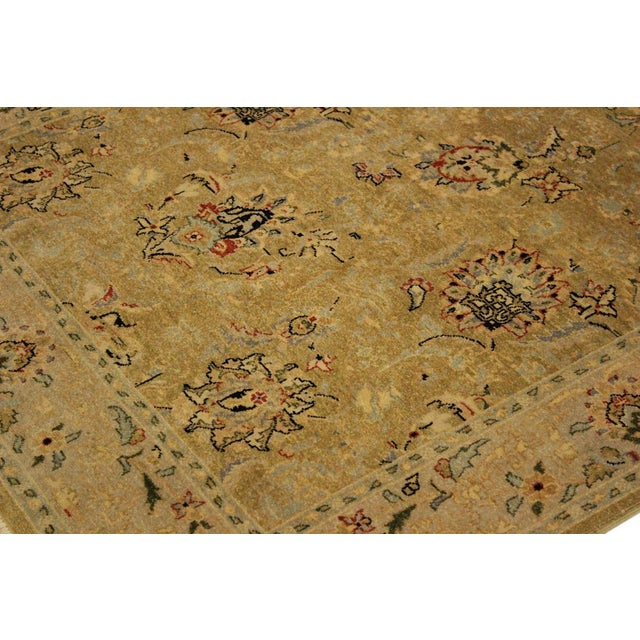 Textile Semi Antique Istanbul Latrice Gold/Gray Turkish Hand-Knotted Rug -4'4 X 6'2 For Sale - Image 7 of 8