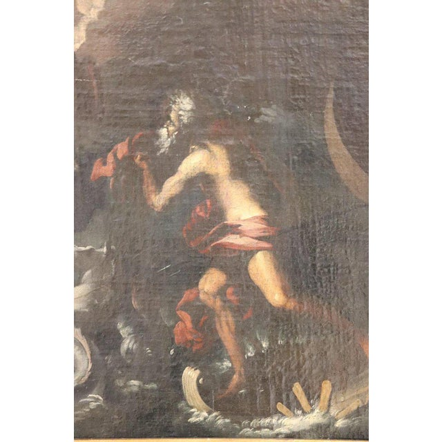 17th Century Italian Oil Painting on Canvas, Subject Mythological For Sale - Image 4 of 13