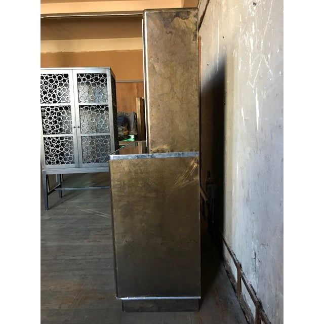 Industrial Metal Bar Cabinet For Sale - Image 3 of 9