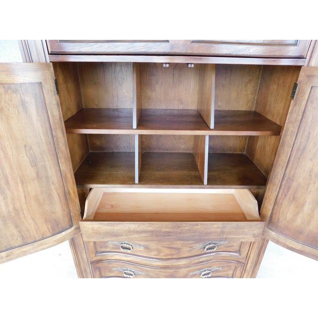 Late 20th Century Drexel Heritage Grand Villa Tall Chest Armoire Cabinet For Sale - Image 5 of 6