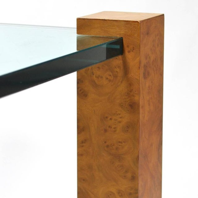 Glass Harvey Probber Cube Leg Table For Sale - Image 7 of 10