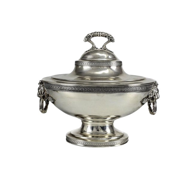 19th C. John C. Moore for Tiffany & Co. Sterling Silver Tureen For Sale