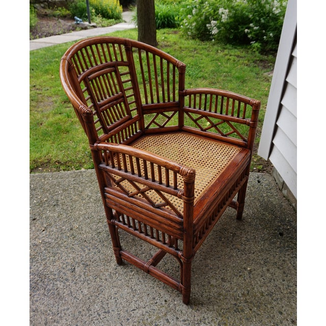 Chinese Chippendale Bamboo Brighton Pavilion Chairs - a Pair For Sale In New York - Image 6 of 13