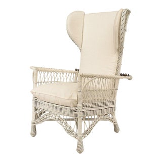 American Mission Wicker Morris Chair For Sale